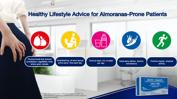 healthy lifestyle advice for almoranas prone patients